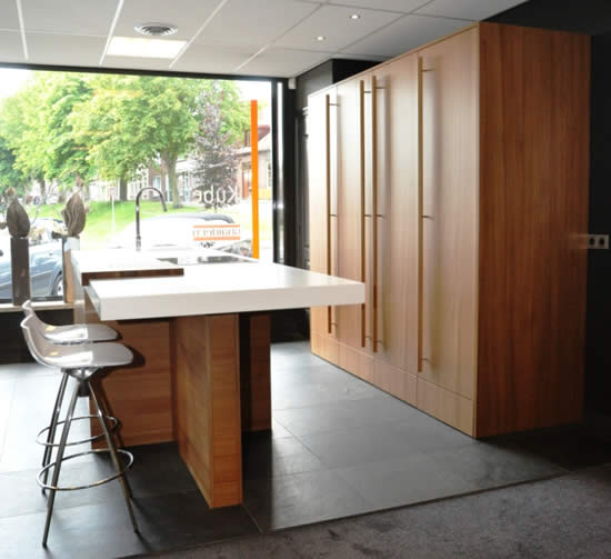 Snaidero Kube kitchen in Elm with island, composition S13.