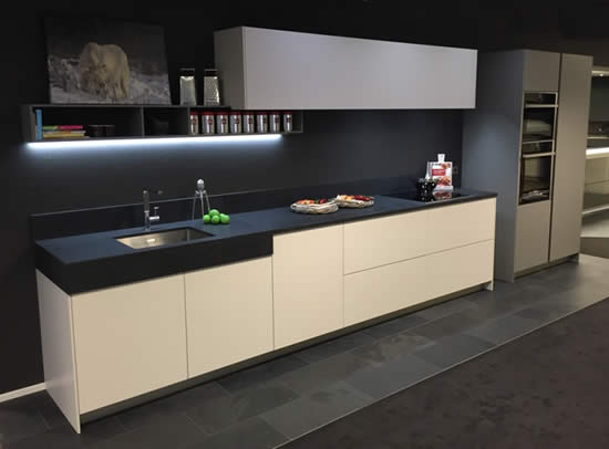 Snaidero S11 kitchen concept on display at the Snaidero Concept Store.